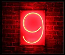 """9"" Neon Sign"